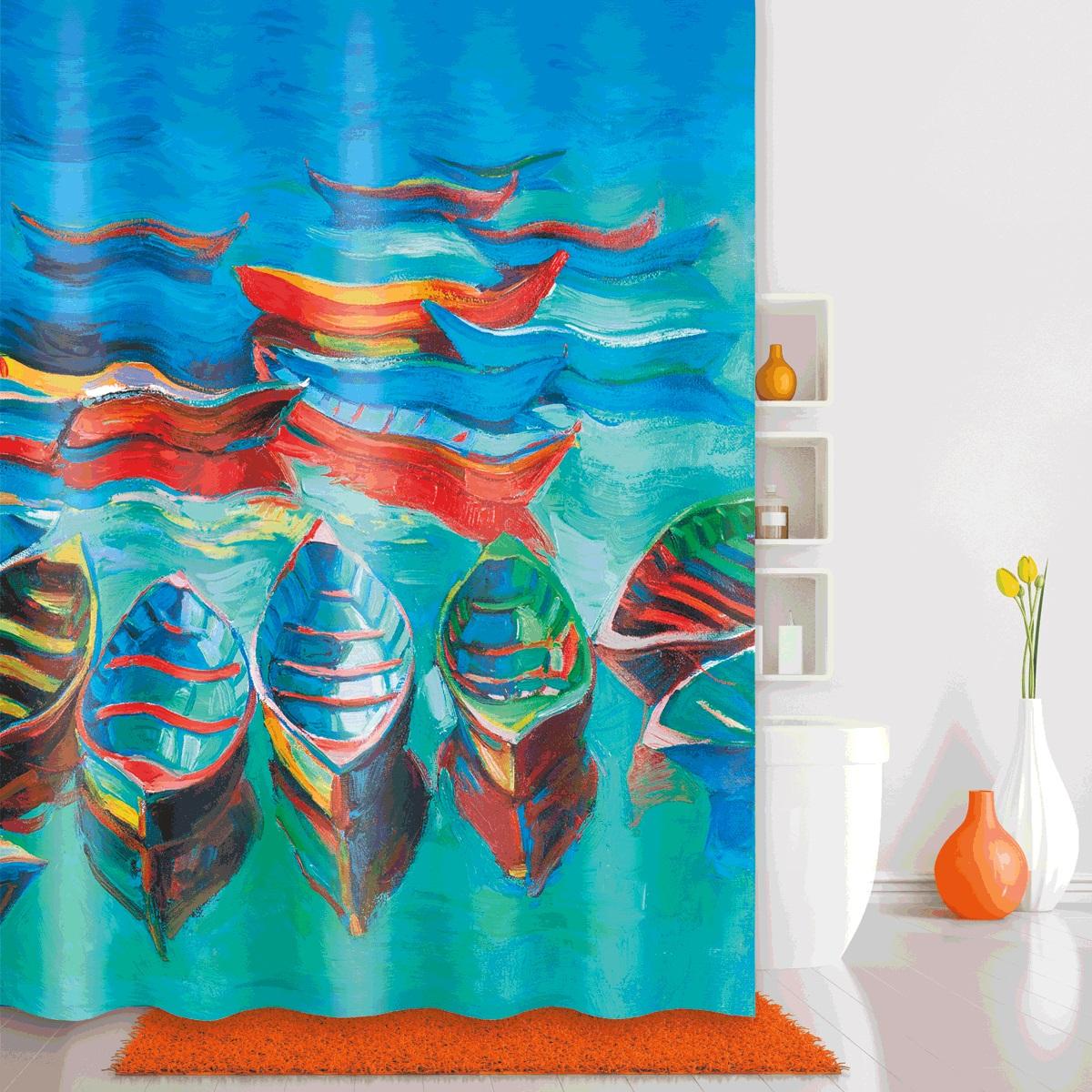 Штора для ванной Iddis Boats, цвет: голубой, 180 x 200 см560P18Ri11Штора для ванной комнаты Iddis выполнена из быстросохнущего материала - 100% полиэстера, что обеспечивает прочность изделия и легкость ухода за ним.Материал шторы пропитан специальным водоотталкивающим составом Waterprof.Изделие изготовлено из экологически-чистого материала, оно обладает высокой степенью гигиеничности, не вызывает аллергических реакций.Штора имеет 12 металлических люверсов. В комплекте: штора и кольца.