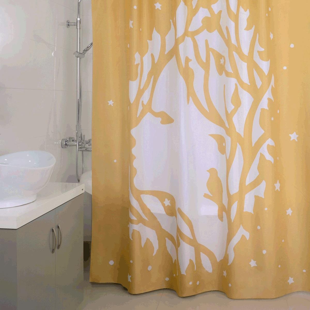 Штора для ванной Iddis Golden Nimph, цвет: бежевый, 180 x 200 см620P18Ri11Штора для ванной комнаты Iddis выполнена из быстросохнущего материала - 100% полиэстера, что обеспечивает прочность изделия и легкость ухода за ним.Материал шторы пропитан специальным водоотталкивающим составом Waterprof.Изделие изготовлено из экологически-чистого материала, оно обладает высокой степенью гигиеничности, не вызывает аллергических реакций.Штора имеет 12 встроенных колец и утяжеляющую нить.
