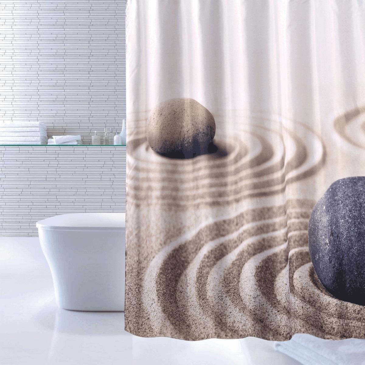 Штора для ванной Iddis Sandy, цвет: бежевый, 180 x 200 см640P18Ri11Штора для ванной комнаты Iddis выполнена из быстросохнущего материала - 100% полиэстера, что обеспечивает прочность изделия и легкость ухода за ним.Материал шторы пропитан специальным водоотталкивающим составом Waterprof.Изделие изготовлено из экологически-чистого материала, оно обладает высокой степенью гигиеничности, не вызывает аллергических реакций.Штора имеет 12 металлических люверсов. В комплекте: штора и кольца.