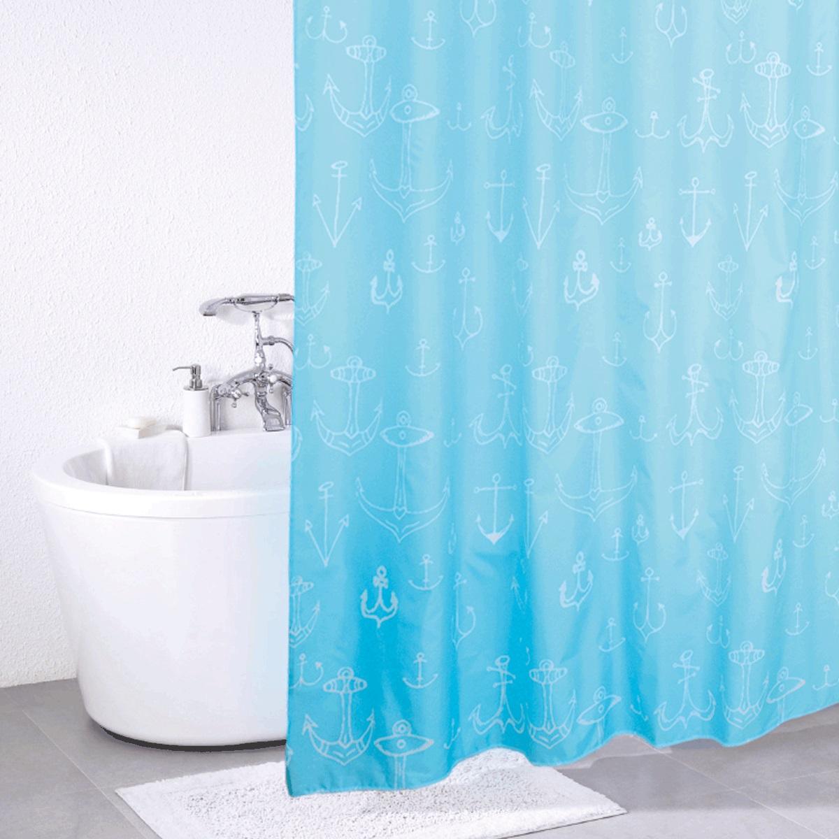 Штора для ванной Iddis Mare, цвет: голубой, 180 x 200 см650P18Ri11Штора для ванной комнаты Iddis выполнена из быстросохнущего материала - 100% полиэстера, что обеспечивает прочность изделия и легкость ухода за ним.Материал шторы пропитан специальным водоотталкивающим составом Waterprof.Изделие изготовлено из экологически-чистого материала, оно обладает высокой степенью гигиеничности, не вызывает аллергических реакций.Штора имеет 12 встроенных колец и утяжеляющую нить.
