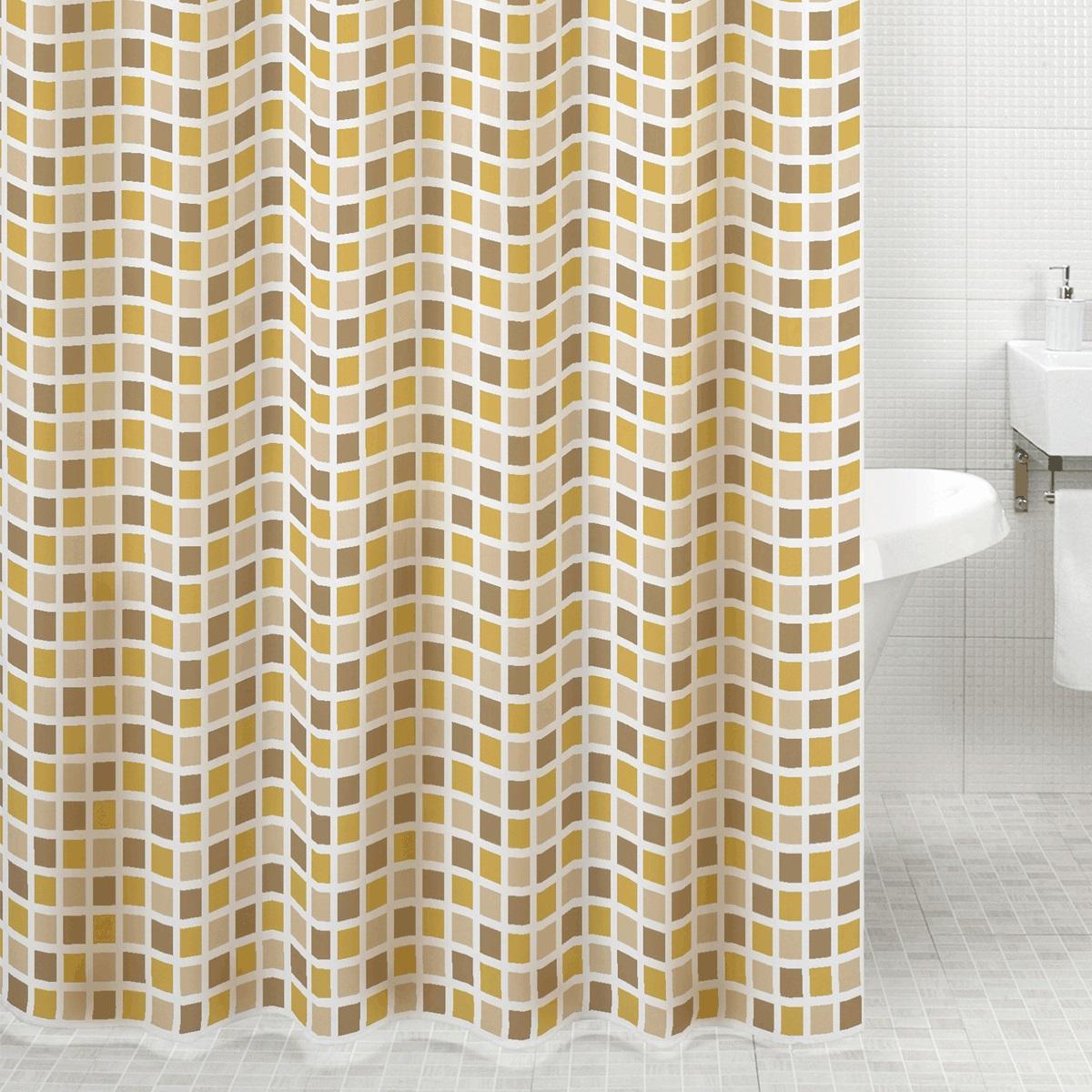 """Штора для ванной Milardo """"Classic Tiles"""", изготовленная из полиэстера - водонепроницаемого, мягкого на ощупь и прочного материала, идеально защищает ванную комнату от брызг. В верхней кромке шторы предусмотрены металлические отверстия для колец, которые входят в комплект.Штора Milardo """"Classic Tiles"""" порадует вас своим ярким дизайном и добавит уюта в ванную комнату. Плотность: 90 г/м.Количество колец: 12 шт."""