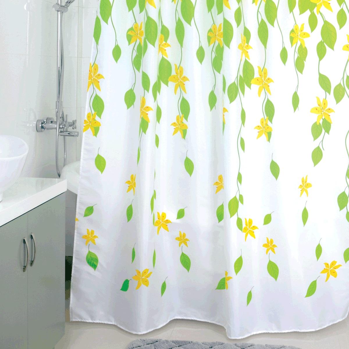 Штора для ванной Milardo Ivy Space, цвет: белый, зеленый, желтый, 180 x 200 см mears patricia breward christopher boyer g bruce chensvold christian monden masafumi mcneil pe ivy style