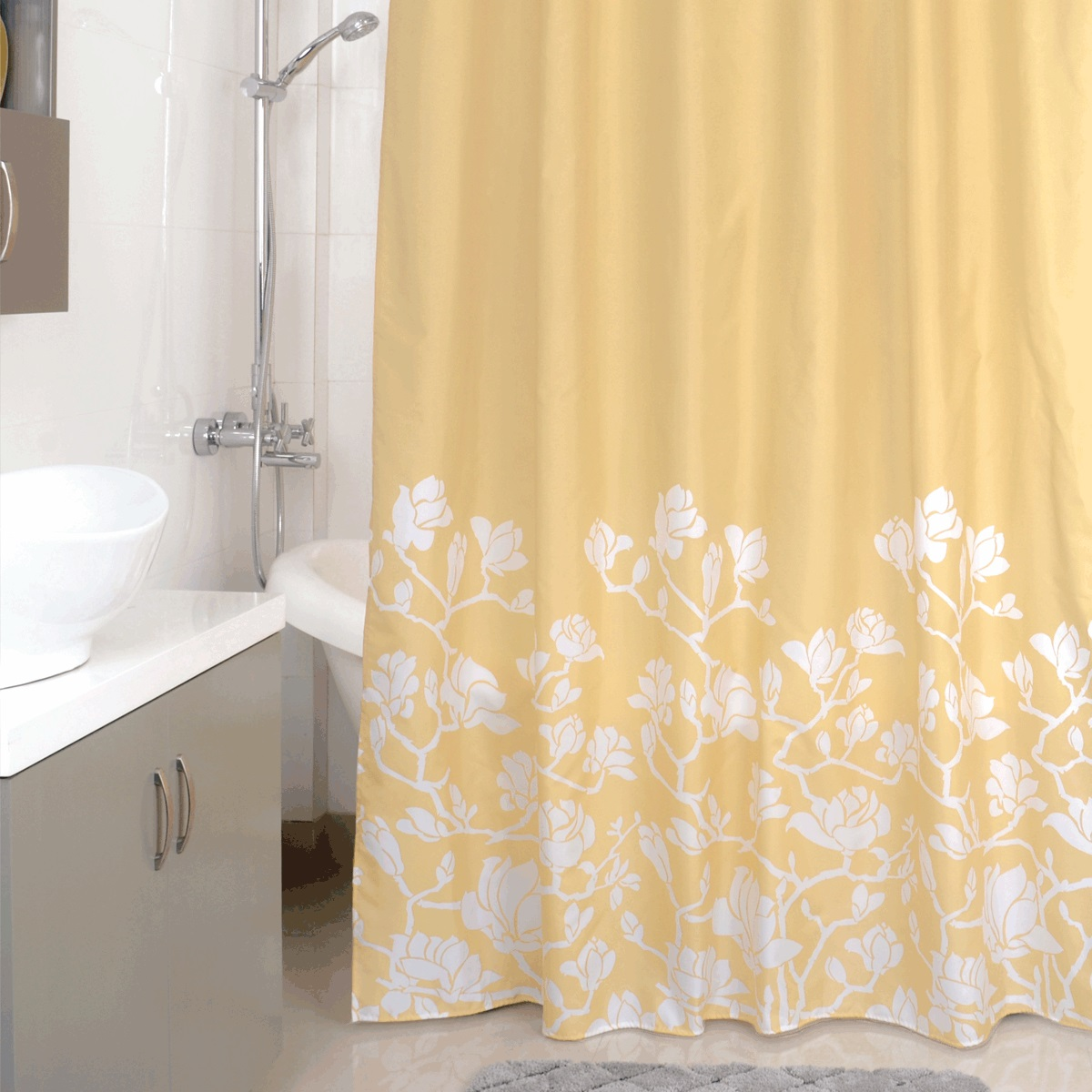 Штора для ванной Milardo Beige Silhouette, цвет: бежевый , 180 x 200 см milardo amur amusb00m01