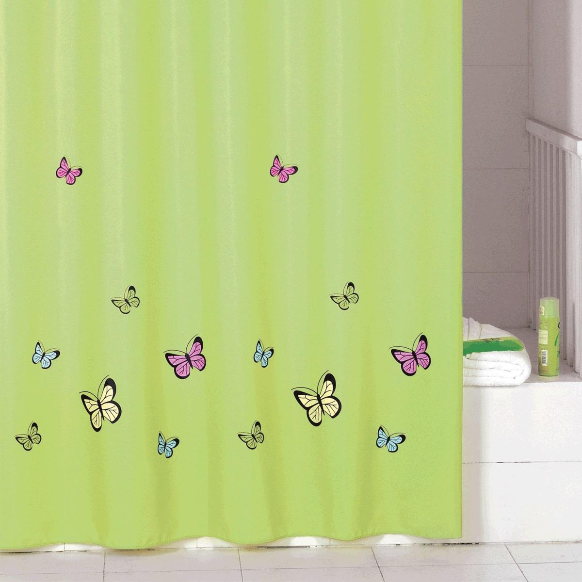 Штора для ванной Iddis Green Butterfly, цвет: зеленый, 200 x 200 смSCID032PШтора для ванной комнаты Iddis выполнена из быстросохнущего материала - 100% полиэстера, что обеспечивает прочность изделия и легкость ухода за ним.Материал шторы пропитан специальным водоотталкивающим составом Waterprof.Изделие изготовлено из экологически-чистого материала, оно обладает высокой степенью гигиеничности, не вызывает аллергических реакций.Штора имеет 12 металлических люверсов. В комплекте: штора и кольца.