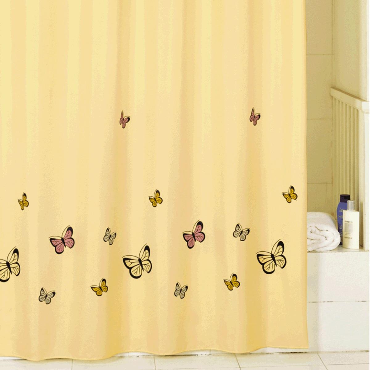 Штора для ванной Iddis Yellow Butterfly, цвет: желтый, 200 x 200 смSCID033PШтора для ванной комнаты Iddis выполнена из быстросохнущего материала - 100% полиэстера, что обеспечивает прочность изделия и легкость ухода за ним.Материал шторы пропитан специальным водоотталкивающим составом Waterprof.Изделие изготовлено из экологически-чистого материала, оно обладает высокой степенью гигиеничности, не вызывает аллергических реакций.Штора имеет 12 металлических люверсов. В комплекте: штора и кольца.