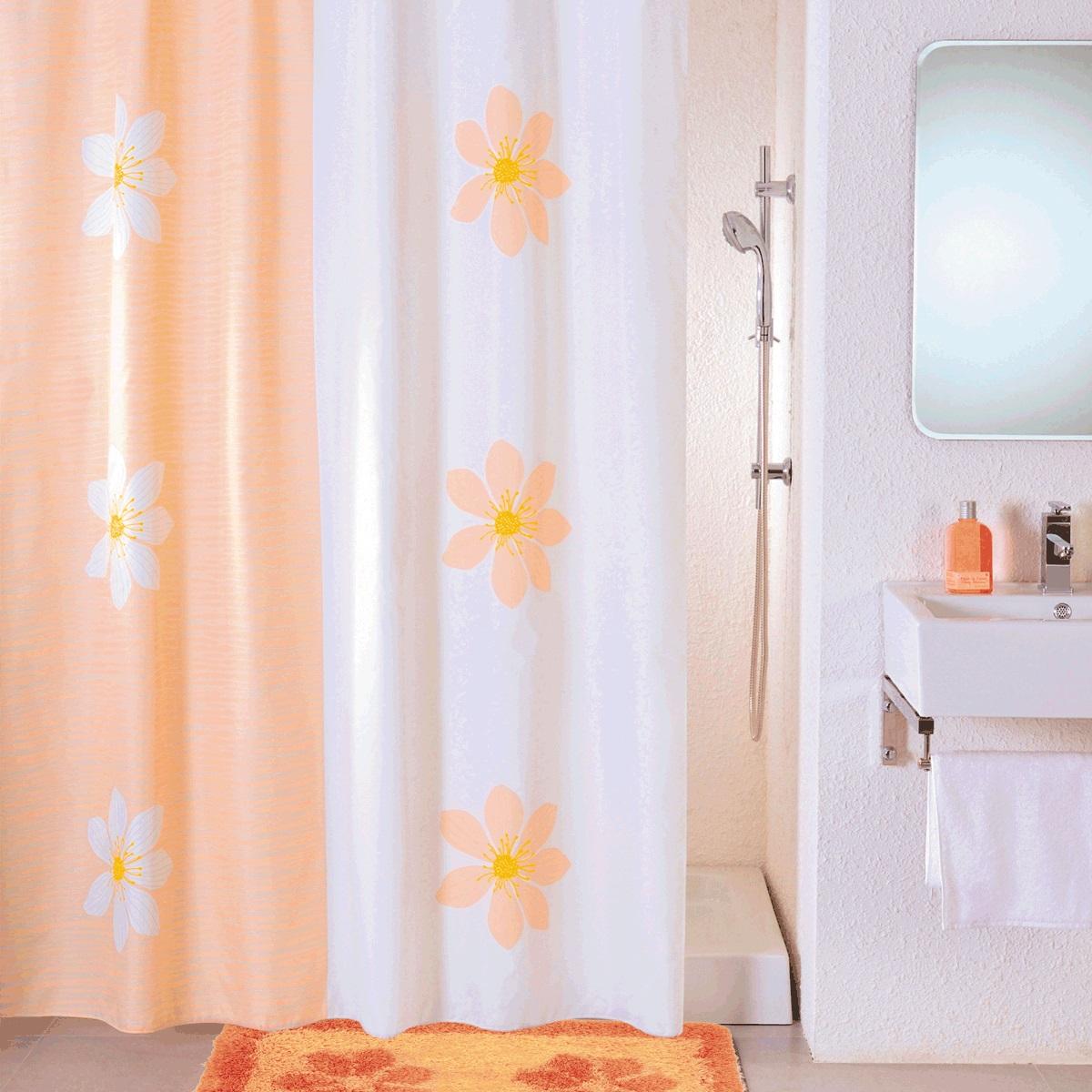 Штора для ванной Iddis Paloma Art, цвет: белый, оранжевый, 180 x 200 смSCID042PШтора для ванной комнаты Iddis выполнена из быстросохнущего материала - 100% полиэстера, что обеспечивает прочность изделия и легкость ухода за ним.Материал шторы пропитан специальным водоотталкивающим составом Waterprof.Изделие изготовлено из экологически-чистого материала, оно обладает высокой степенью гигиеничности, не вызывает аллергических реакций.Штора имеет 12 металлических люверсов. В комплекте: штора и кольца.