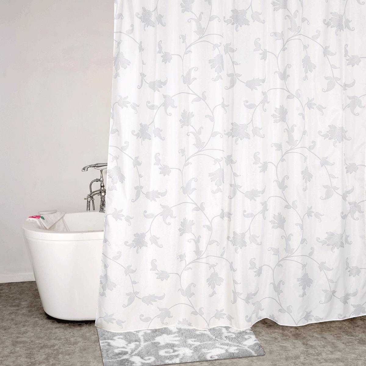 """Штора для ванной комнаты """"Iddis"""" выполнена из быстросохнущего материала - 100% полиэстера, что обеспечивает прочность изделия и легкость ухода за ним.Материал шторы пропитан специальным водоотталкивающим составом Waterprof.Изделие изготовлено из экологически-чистого материала, оно обладает высокой степенью гигиеничности, не вызывает аллергических реакций.Штора имеет 12 металлических люверсов. В комплекте: штора и кольца."""