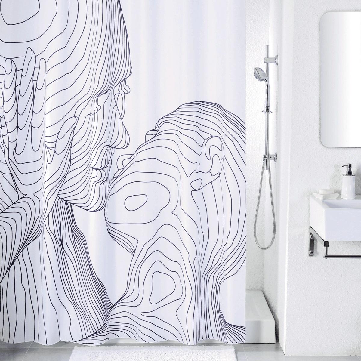 Штора для ванной Iddis Black&White, цвет: белый, черный, 180 x 200 смSCID150PШтора для ванной комнаты Iddis выполнена из быстросохнущего материала - 100% полиэстера, что обеспечивает прочность изделия и легкость ухода за ним.Материал шторы пропитан специальным водоотталкивающим составом Waterprof.Изделие изготовлено из экологически-чистого материала, оно обладает высокой степенью гигиеничности, не вызывает аллергических реакций.Штора имеет 12 металлических люверсов. В комплекте: штора и кольца.