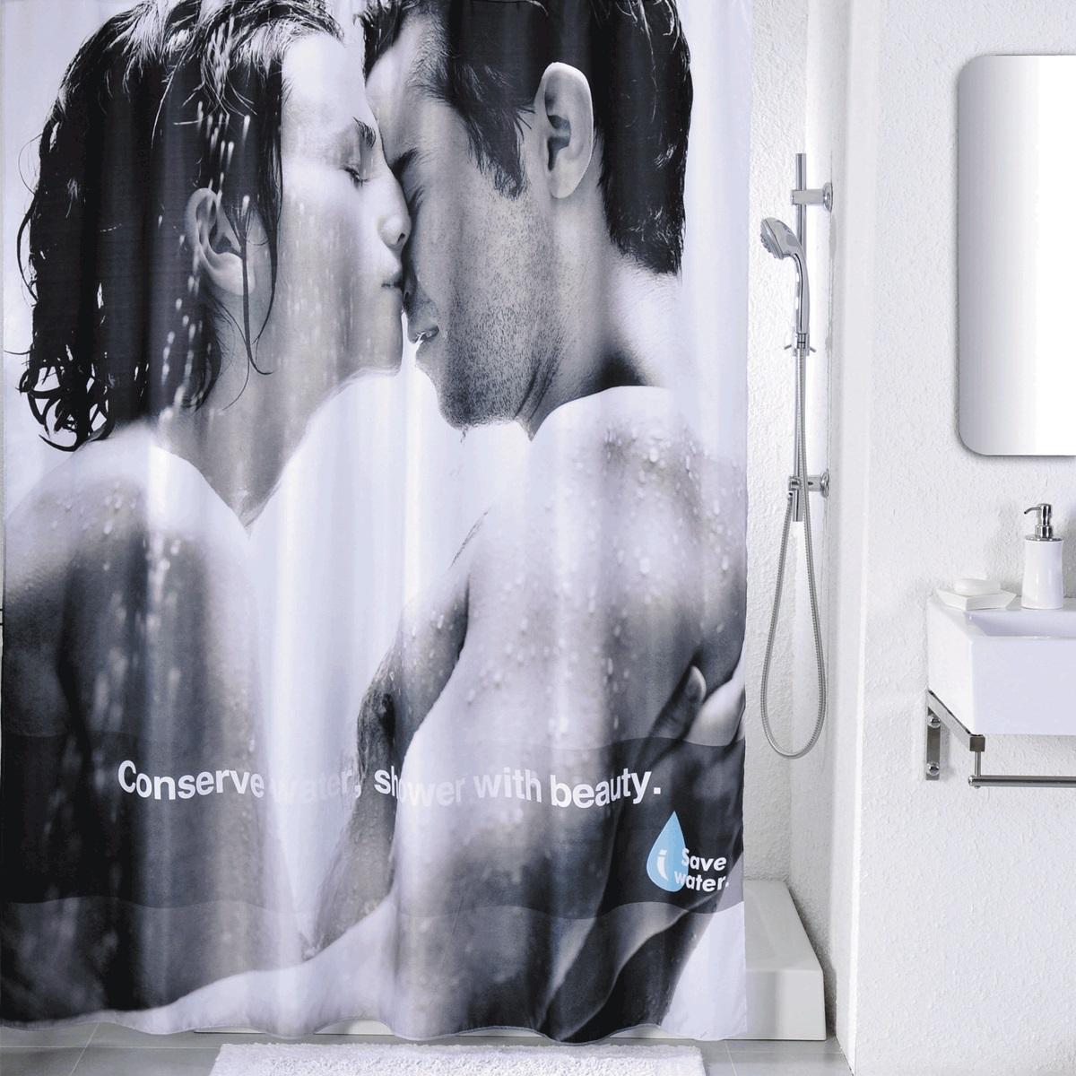 Штора для ванной Iddis Romance, цвет: белый, черный, 180 x 200 смSCID160PШтора для ванной комнаты Iddis выполнена из быстросохнущего материала - 100% полиэстера, что обеспечивает прочность изделия и легкость ухода за ним.Материал шторы пропитан специальным водоотталкивающим составом Waterprof.Изделие изготовлено из экологически-чистого материала, оно обладает высокой степенью гигиеничности, не вызывает аллергических реакций.Штора имеет 12 металлических люверсов. В комплекте: штора и кольца.