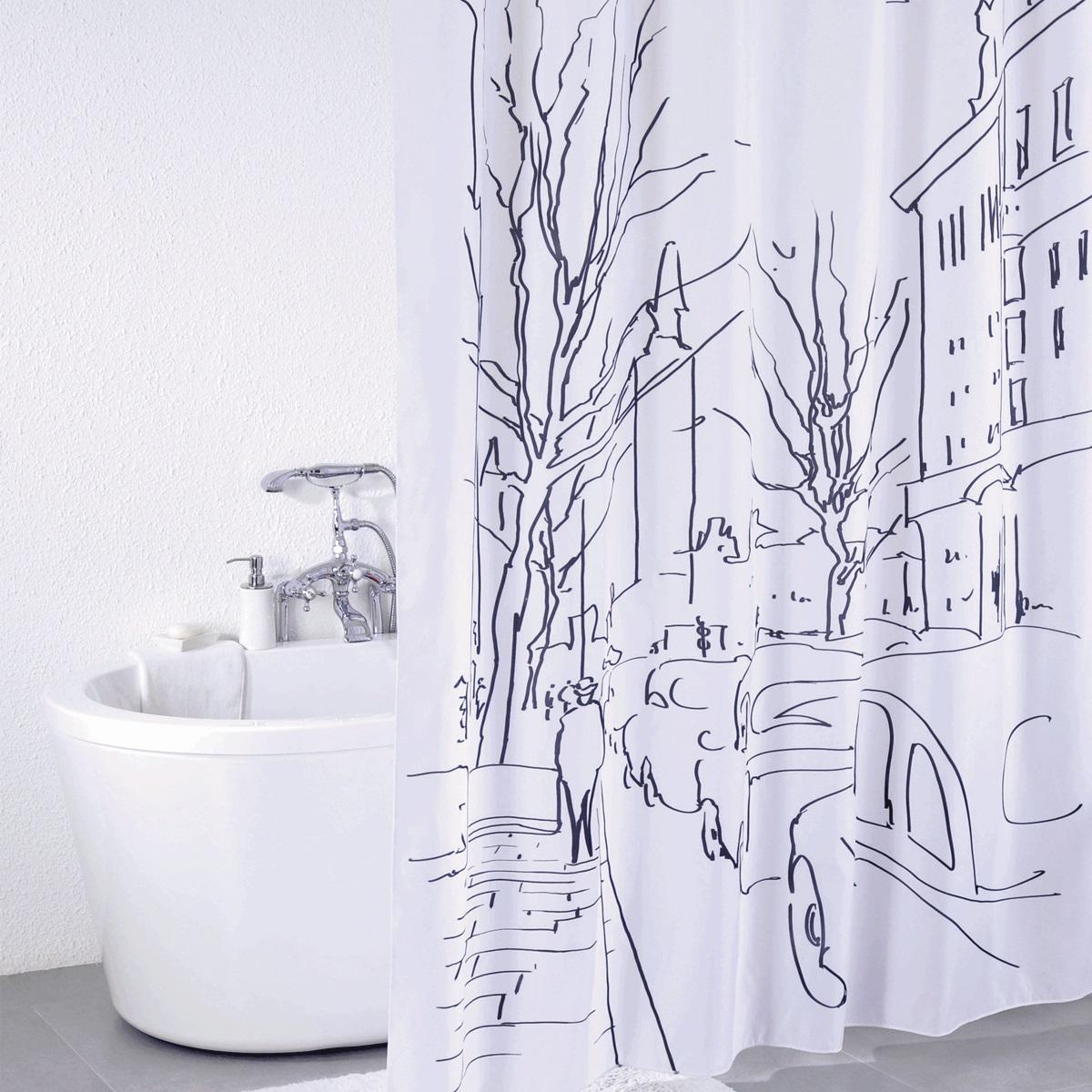 Штора для ванной Iddis Polar Bear, цвет: белый, черный, 180 x 200 смSCID170PШтора для ванной комнаты Iddis выполнена из быстросохнущего материала - 100% полиэстера, что обеспечивает прочность изделия и легкость ухода за ним.Материал шторы пропитан специальным водоотталкивающим составом Waterprof.Изделие изготовлено из экологически-чистого материала, оно обладает высокой степенью гигиеничности, не вызывает аллергических реакций.Штора имеет 12 металлических люверсов. В комплекте: штора и кольца.