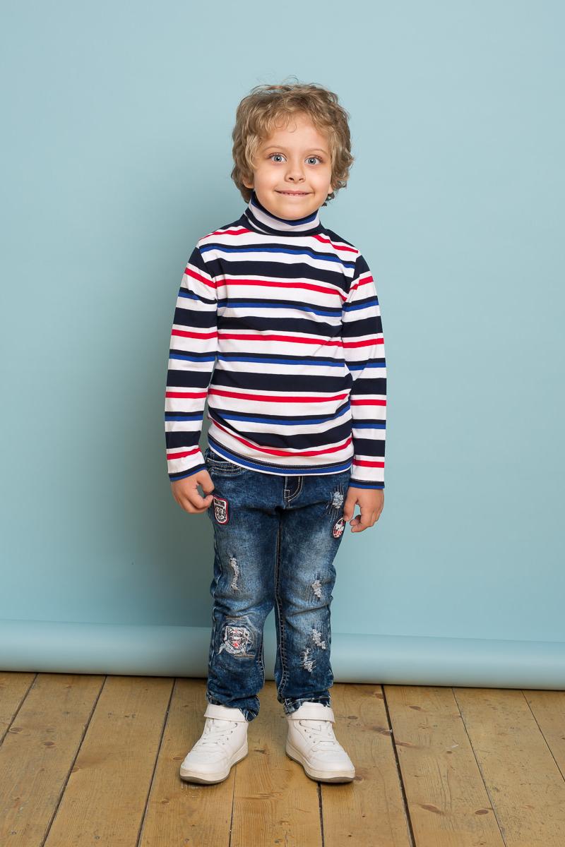 Джинсы для мальчика Sweet Berry, цвет: темно-синий. 733019. Размер 116733019Ультрамодные джинсовые брюки для мальчика. Декорированы оригинальной варкой, потёртостями и аппликацией. Зауженный крой, средняя посадка. Застегиваются на молнию и крючок. Шлевки на поясе рассчитаны под ремень. В боковой части пояса находятся вшитые эластичные ленты, регулирующие посадку по талии.
