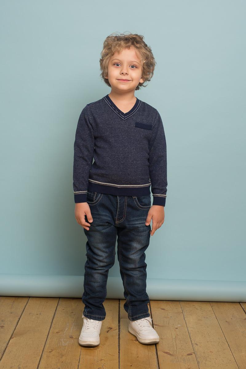 Джинсы для мальчика Sweet Berry, цвет: темно-синий. 733071. Размер 128733071Утепленные джинсовый брюки для мальчика на флисовой подкладке с оригинальной варкой. Прямой крой, средняя посадка. Застегиваются на молнию и пуговицу. Шлевки на поясе рассчитаны под ремень. В боковой части пояса находятся вшитые эластичные ленты, регулирующие посадку по талии.