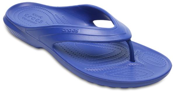 Сланцы Crocs Classic Flip, цвет: синий. 202635-4GX. Размер 11 (43/44)202635-4GXСтильные сланцы Classic Flip от Crocs придутся вам по душе. Рифление на верхнейповерхности подошвы предотвращает выскальзывание ноги. Рельефноеоснование подошвы обеспечивает уверенное сцепление с любой поверхностью.Удобные сланцы прекрасно подойдут для похода в бассейн или на пляж.