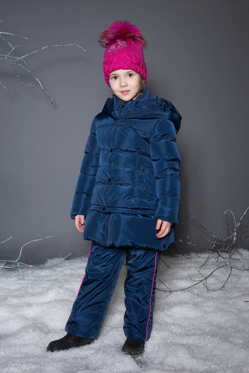 Пальто для девочки Sweet Berry, цвет: темно-синий. 734060. Размер 98
