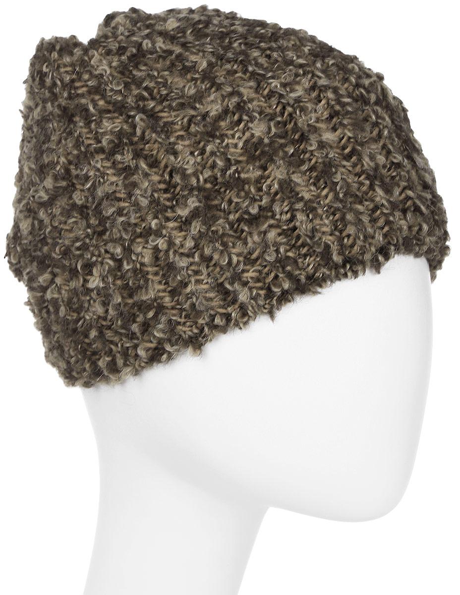 Шапка женская Marhatter, цвет: коричневый. Размер 56/58. MWH6844/2MWH6844/2Стильная шапка, выполнена из высококачественной пряжи. Модель очень актуальна для тех, кто ценит комфорт, стиль и красоту. Отличный вариант на каждый день.