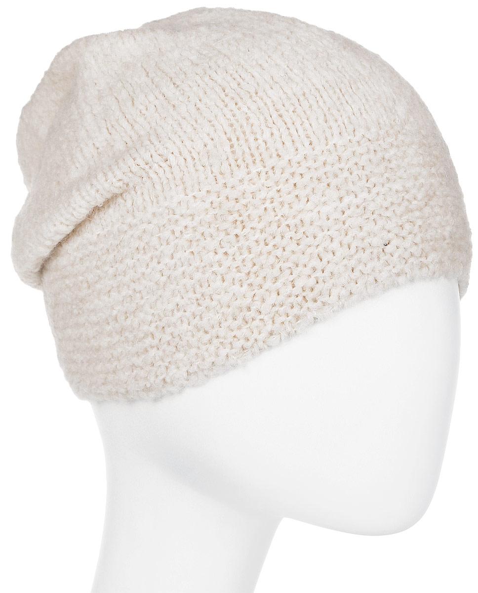 Шапка женская Snezhna, цвет: светло-бежевый. Размер 56/58. SWH7100/2SWH7100/2Стильная шапка-колпак, выполнена из высококачественной пряжи. Модель очень актуальна для тех, кто ценит комфорт, стиль и красоту. Отличный вариант на каждый день.