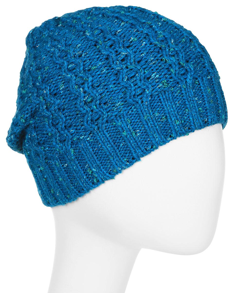 Шапка женская Marhatter, цвет: бирюзовый. Размер 56/58. MWH4949/2MWH4949/2Стильная шапка-колпак, выполнена из высококачественной пряжи. Модель очень актуальна для тех, кто ценит комфорт, стиль и красоту. Отличный вариант на каждый день.