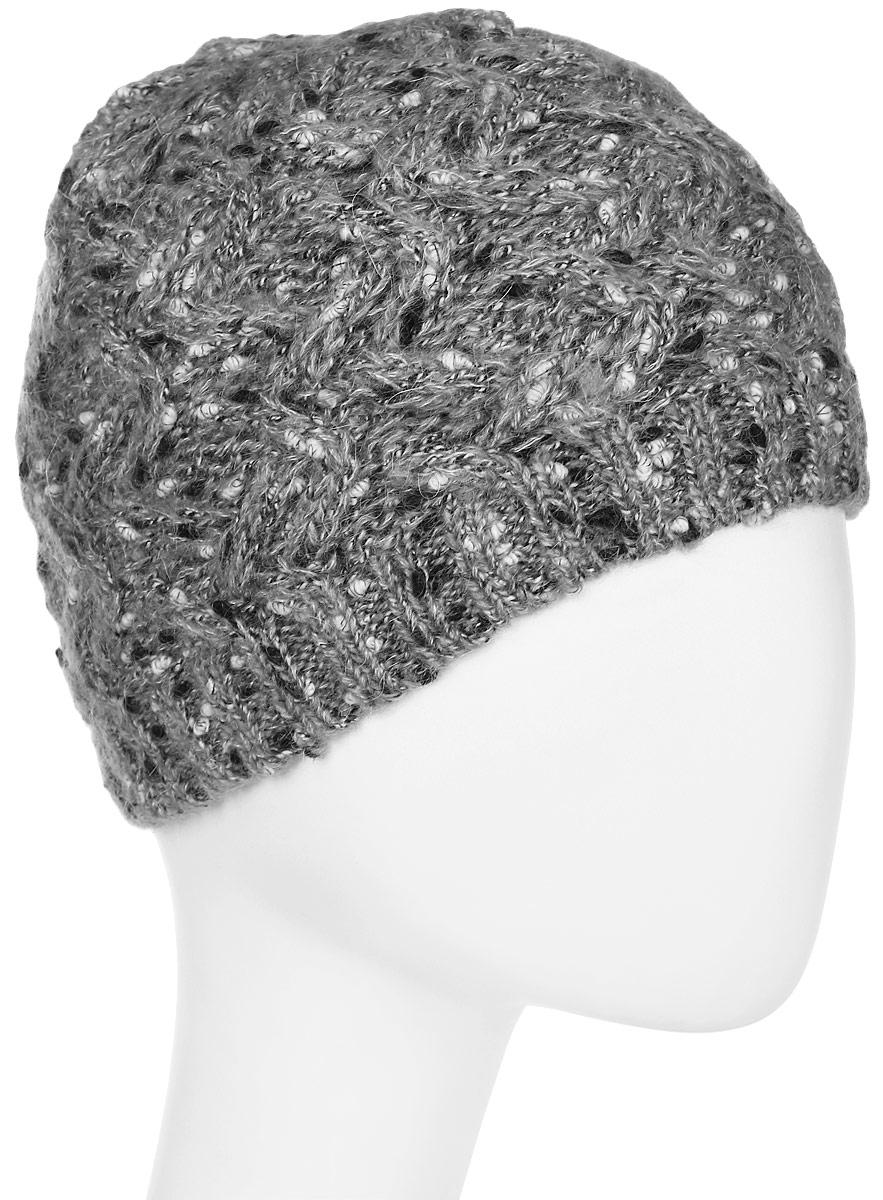 Шапка женская Snezhna, цвет: светло-серый. Размер 56/58. SWH6750/2SWH6750/2Стильная шапка, выполнена из высококачественной пряжи. Модель очень актуальна для тех, кто ценит комфорт, стиль и красоту. Отличный вариант на каждый день.