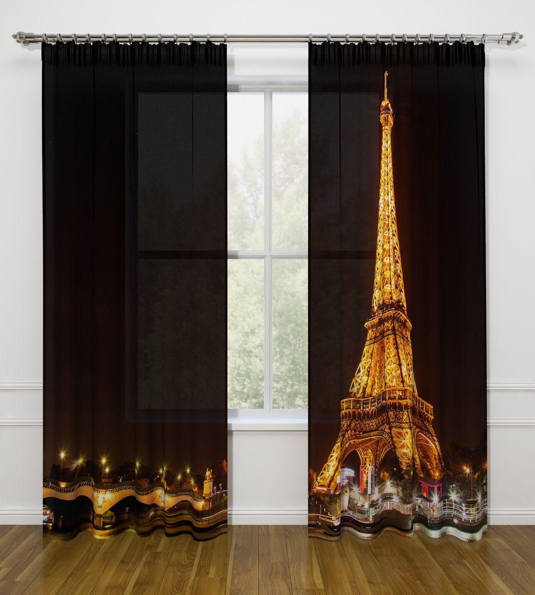 Комплект фотоштор Стильный дом Ночной Париж, на ленте, высота 260 смСД-03362-ФШ-ГБ-001Фотошторы Стильный дом из ткани Габардин (100% полиэстер) отлично дополнят дизайн любого интерьера. Габардин имеет небольшую плотность, ткань хорошо пропускает воздух и солнечный свет. Ткань хорошо держит форму, не требует специального ухода. Качественное изображение перенесенное на наши шторы будет радовать каждый день. При изготовлении фотоштор используются современные материалы и гипоаллергенные краски.Крепление на карниз при помощи шторной ленты на крючки. Удобство монтажа - регулируемая высота без подшива с помощью клеевой ленты. В комплекте: 2 портьера: 145 х 260 см. Клеевая паутинка: 1шт. Инструкция для регулировки высоты штор.Рекомендации по уходу: стирка при 30 градусах, гладить при температуре до 110 градусов. Изображение на мониторе может немного отличаться от реального.