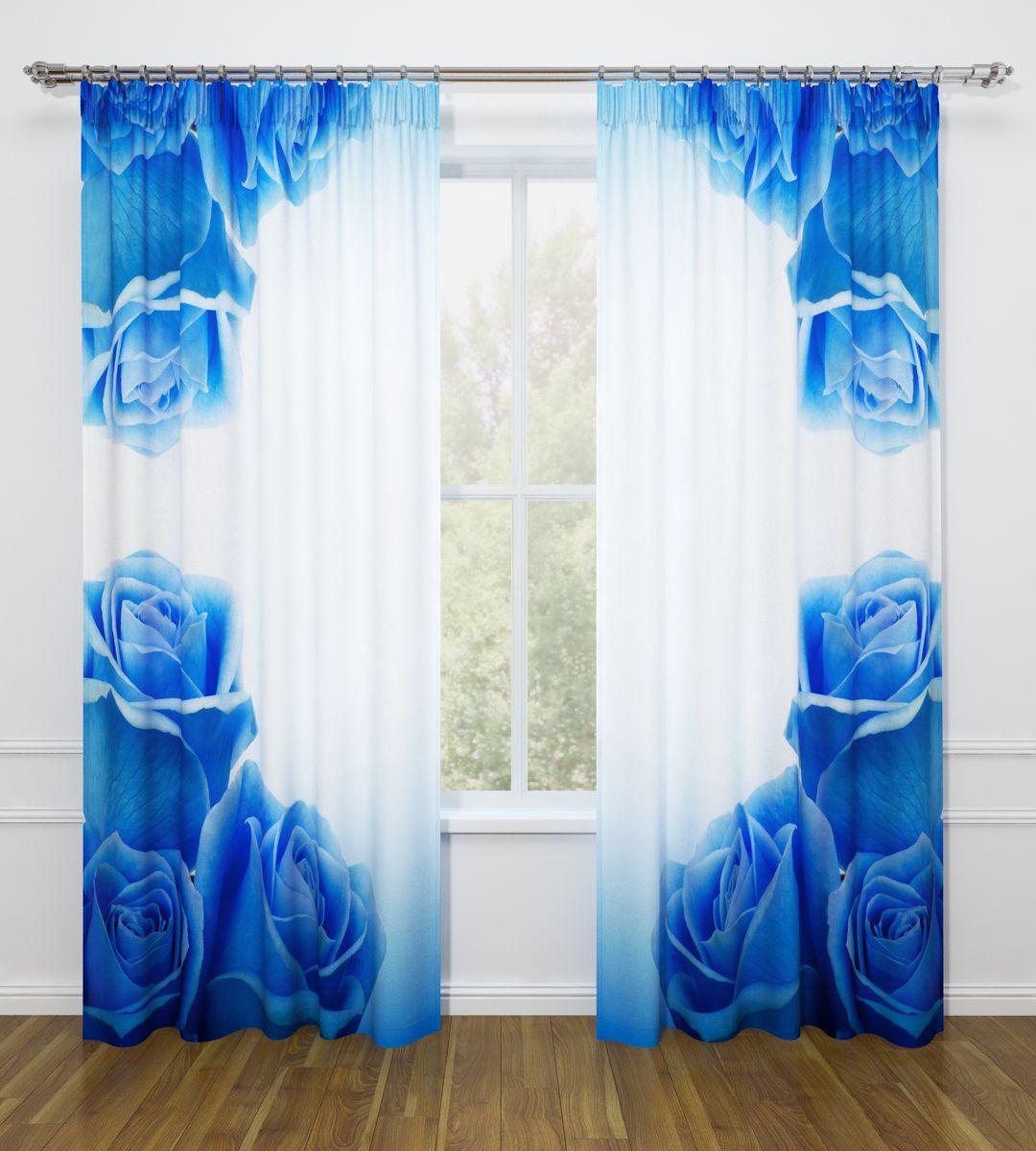 Комплект фотоштор Стильный дом Синие розы, на ленте, высота 260 смСД-07478-ФШ-ГБ-001Фотошторы Стильный дом из ткани Габардин (100% полиэстер) отлично дополнят дизайн любого интерьера. Габардин имеет небольшую плотность, ткань хорошо пропускает воздух и солнечный свет. Ткань хорошо держит форму, не требует специального ухода. Качественное изображение перенесенное на наши шторы будет радовать каждый день. При изготовлении фотоштор используются современные материалы и гипоаллергенные краски.Крепление на карниз при помощи шторной ленты на крючки. Удобство монтажа - регулируемая высота без подшива с помощью клеевой ленты. В комплекте: 2 портьера: 145 х 260 см. Клеевая паутинка: 1шт. Инструкция для регулировки высоты штор.Рекомендации по уходу: стирка при 30 градусах, гладить при температуре до 110 градусов. Изображение на мониторе может немного отличаться от реального.