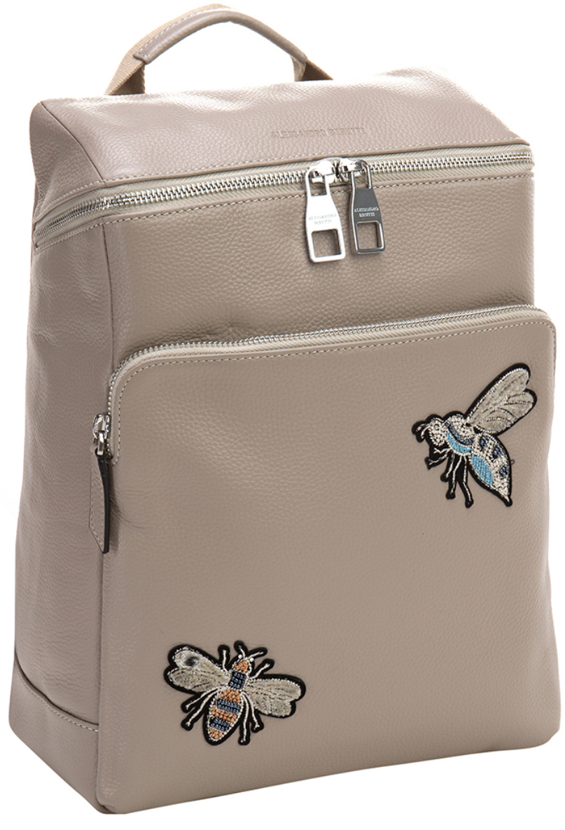Сумка-рюкзак женская Alessandro Birutti, цвет: светло-серый. 13-283-2 - Сумки