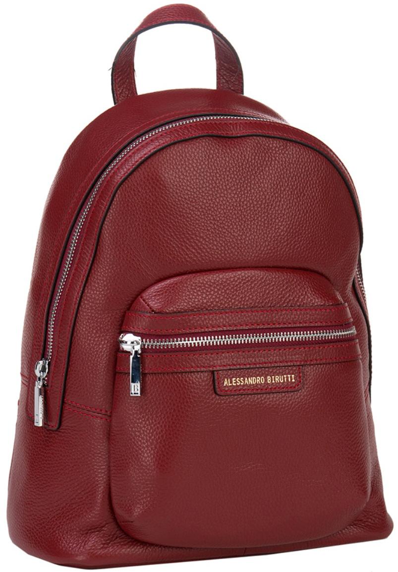 Сумка-рюкзак женская Alessandro Birutti, цвет: красный. 13-243 - Сумки