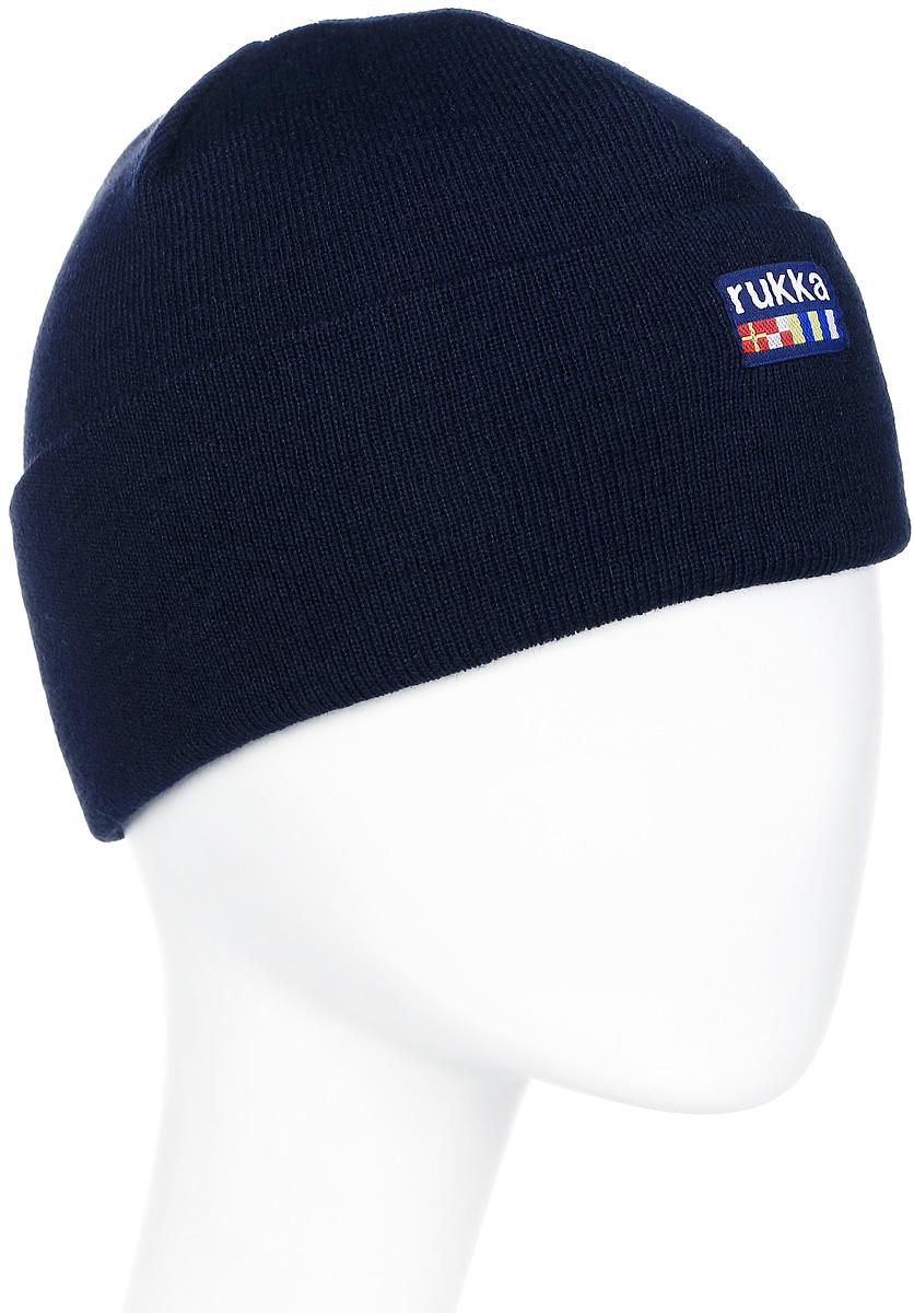 Шапка мужская Rukka, цвет: темно-синий. 870682792RV-390. Размер L (60)870682792RV-390Мужская шапка Rukka выполнена из высококачественного материала. Теплая шапка с отворотом отлично подойдет для активного отдыха. Модель оформлена логотипом бренда.
