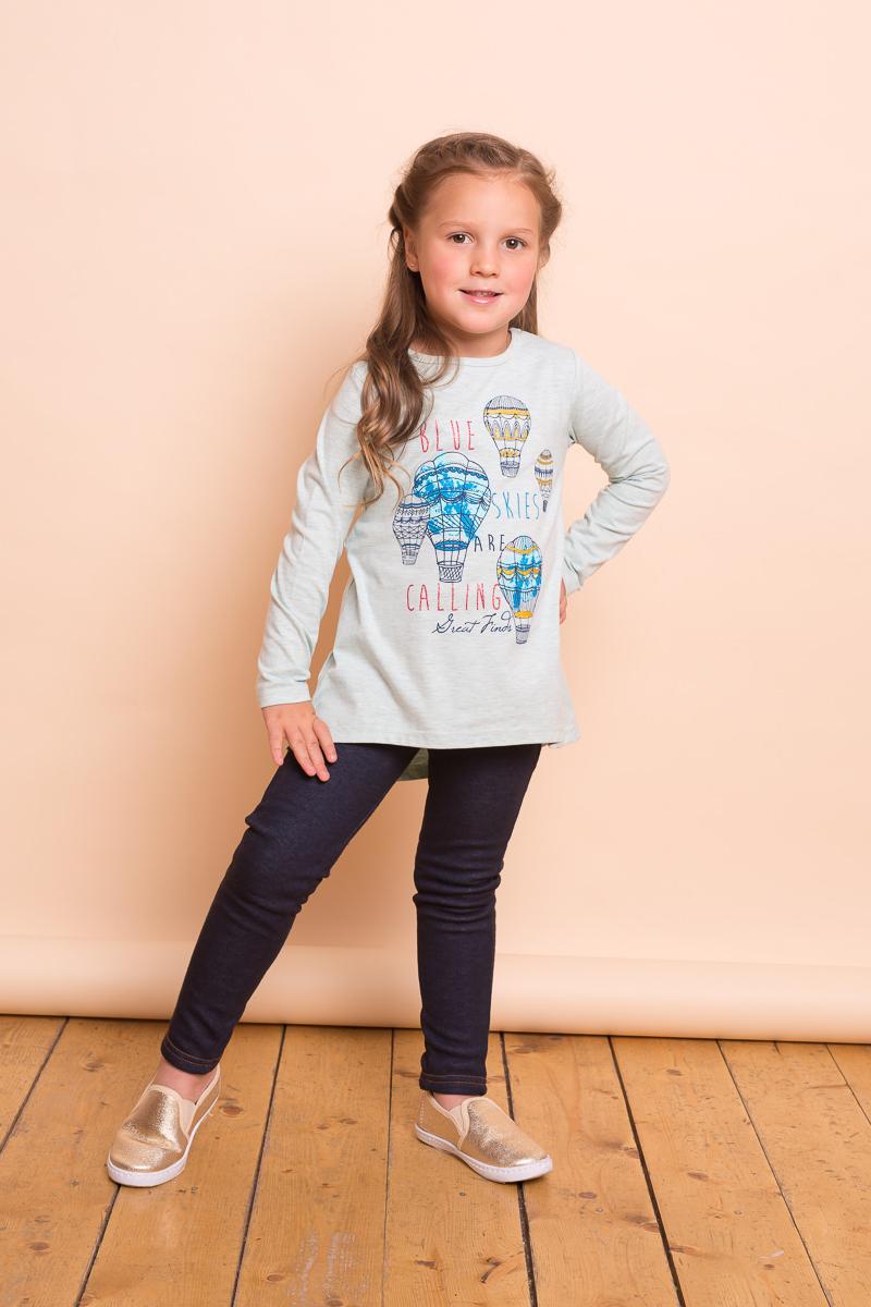 Леггинсы для девочки Sweet Berry, цвет: синий. 734109. Размер 116734109Стильные брюки-джеггинсы для девочки из мягкого трикотажного полотна под джинсу с контрастной отсрочкой. Два накладных кармана. Мягкий эластичный пояс. Шлевки на поясе рассчитаны под ремень.