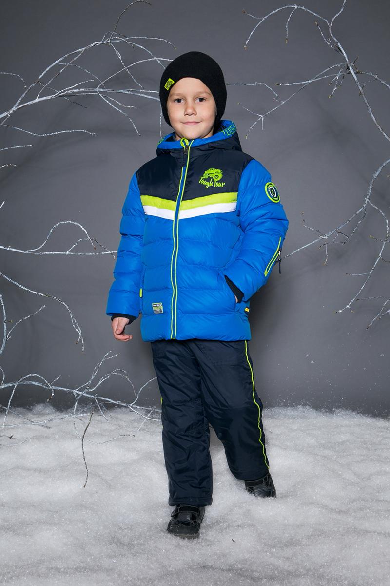 Куртка для мальчика Sweet Berry, цвет: синий. 733090. Размер 98733090Утепленная стеганая куртка для мальчика от Sweet Berry выполнена из двух контрастных цветов. Несъемный капюшон с утяжкой. Два прорезных кармана застегивающиеся на молнию. Флисовая подкладка. Рукава с мягким трикотажными манжетами. Куртка застегивается на молнию.