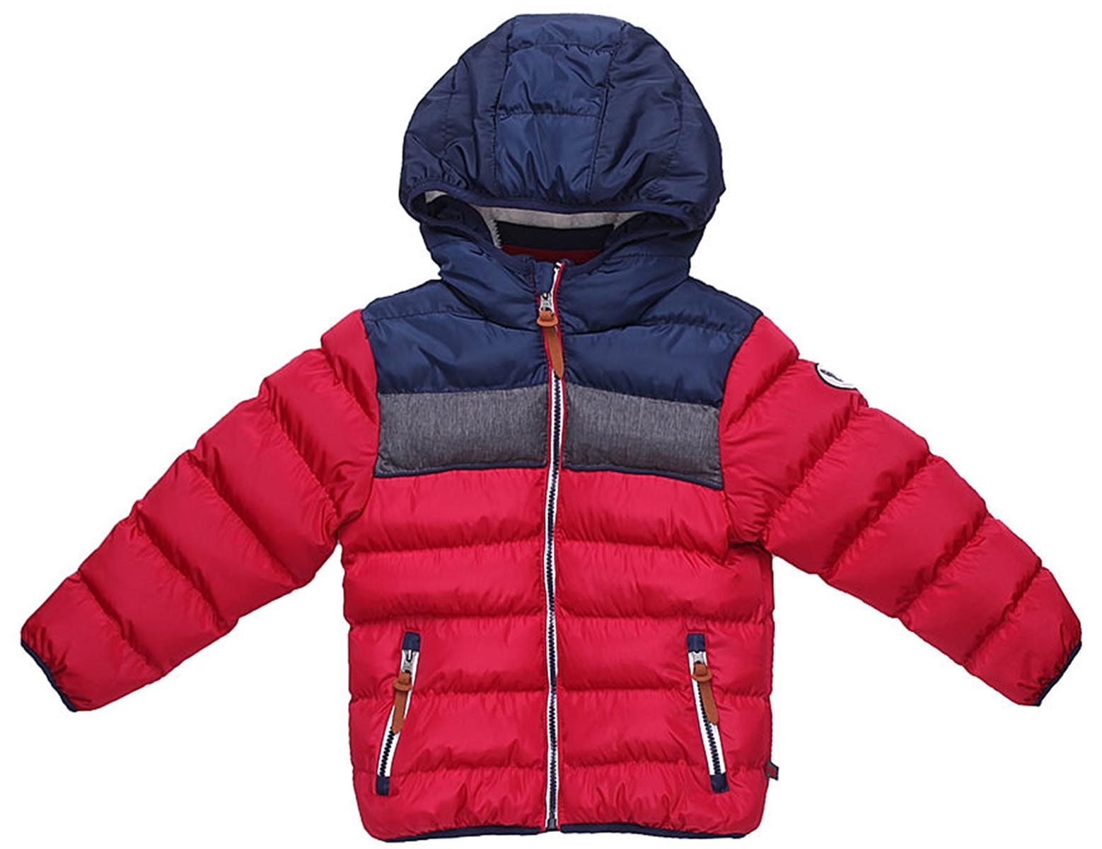 Куртка для мальчика Sweet Berry, цвет: бордовый. 733026. Размер 98733026Утепленная стеганая куртка для мальчика от Sweet Berry выполнена из трех контрастных цветов. Несъемный капюшон. Два прорезных кармана застегивающиеся на молнию. Флисовая подкладка. Капюшон, рукава и низ изделия оформлены контрастной окантовочной резинкой. Куртка застегивается на молнию.
