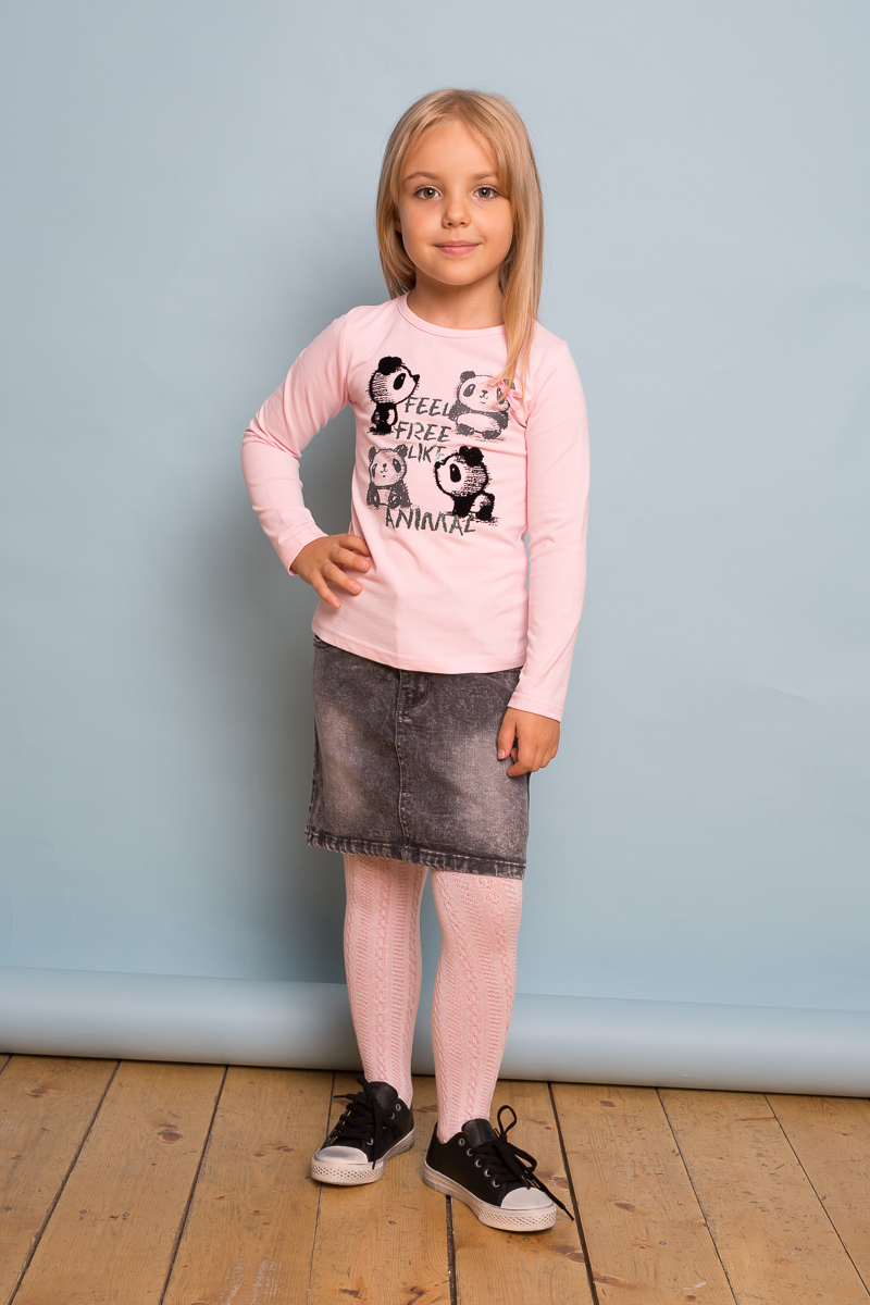 Фото Юбка для девочки Sweet Berry, цвет: темно-серый. 734053. Размер 104