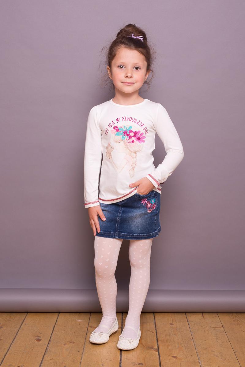 Юбка для девочки Sweet Berry, цвет: синий. 734021. Размер 122734021Джинсовая юбка для девочки от Sweet Berry декорирована цветочной вышивкой. Застегивается на молнию и крючок. Два накладных кармана сзади.