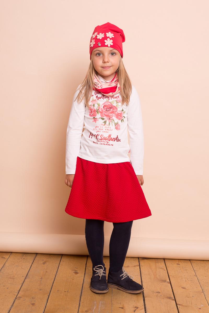 Юбка для девочки Sweet Berry, цвет: красный. 734144. Размер 122734144Стильная юбка для девочки от Sweet Berry выполнена из печатного трикотажа и декорирована контрастным эластичным поясом.