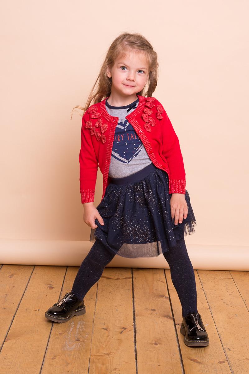 Юбка для девочки Sweet Berry Baby, цвет: темно-синий. 732049. Размер 80732049Нарядная трикотажная юбка Sweet Berry Baby выполнена из фатина и декорированная блестками. Модель на широком эластичном поясе, дополнена подкладкой из эластичного хлопка.