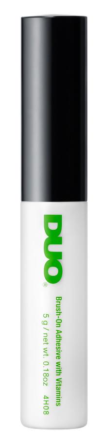 Прозрачный клей для накладных ресниц DUO Clear Brush On Adhesive c кистью, 5 г фломастер двойной lyra лира aqua brush duo светло оранжевый с эффектом рисунка кистью