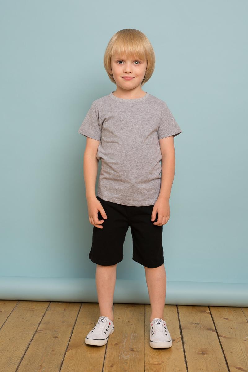 Шорты для мальчика Sweet Berry, цвет: черный. 733118. Размер 128733118Трикотажные шорты для мальчика из хлопкового полотна. Мягкий эластичный пояс на завязках.