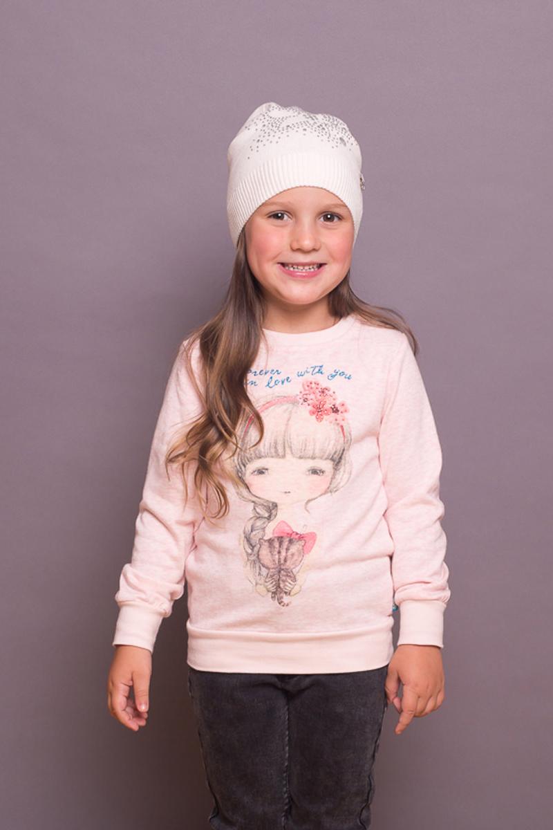 Шапка детская для девочки Sweet Berry, цвет: слоновая кость. 734000. Размер 50 ранец сова для девочки bb 50 разноцветный bag berry