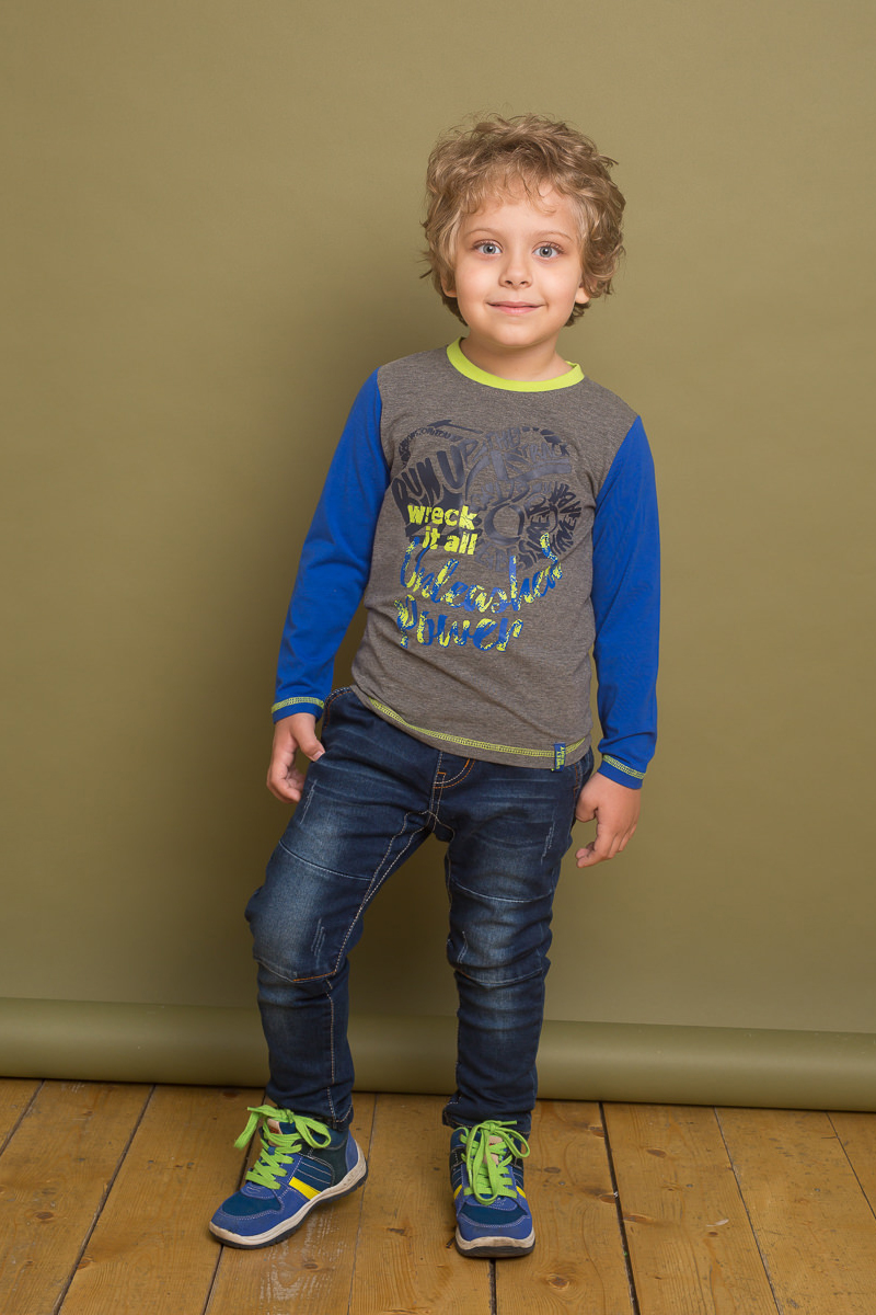 Футболка с длинным рукавом для мальчика Sweet Berry, цвет: серый. 733097. Размер 98733097Трикотажная футболка с длинным рукавом от Sweet Berry выполнена из комбинированной ткани и декорирована оригинальным принтом и контрастной отделкой горловины и рукавов.
