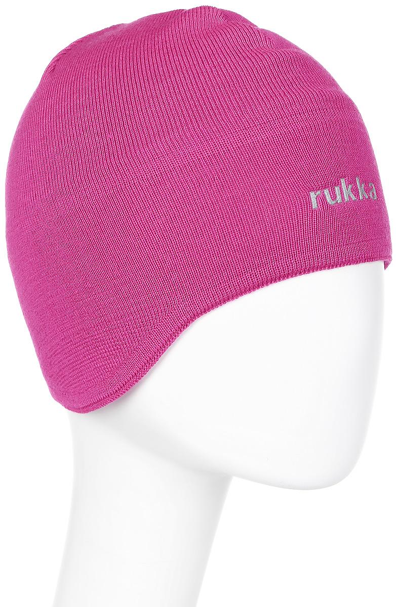 Шапка женская Rukka, цвет: розовый. 870699793RV-626. Размер M (56)870699793RV-626Шапка женская Rukka выполнена из высококачественного материала. Теплая шапка отлично подойдет для активного отдыха. Модель оформлена логотипом бренда.