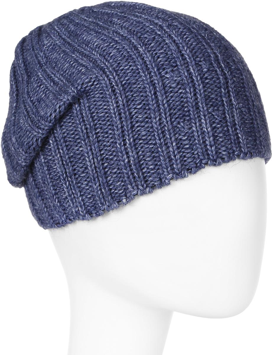 Шапка мужская Elfrio, цвет: синий. Размер 57/59. RMH6461/2RMH6461/2Теплая шапка Elfrio, выполнена из комфортного материала, дополнена подкладкой из полиэстера. Данная модель мягкая и комфортная на ощупь, отличный вариант на каждый день.
