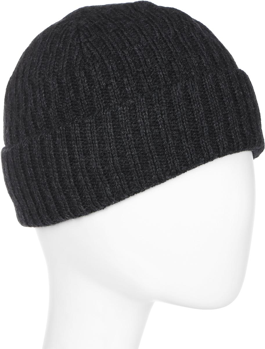 Шапка мужская Marhatter, цвет: темно-серый. Размер 57/59. 45704570Стильная теплая шапка с отворотом и флисовой подкладкой. Отличный зимний аксессуар на каждый день.