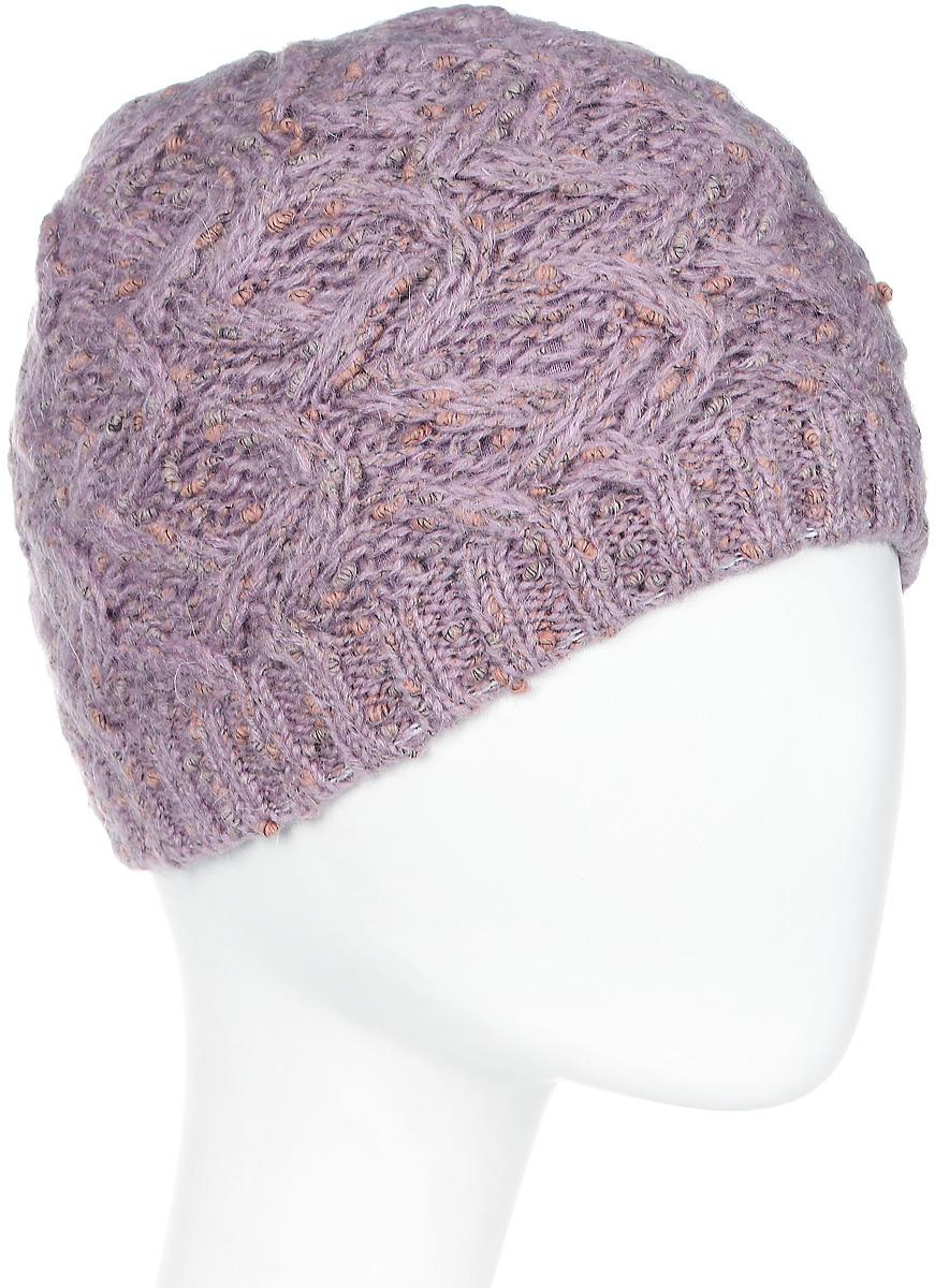 Шапка женская Snezhna, цвет: сиреневый. Размер 56/58. SWH6750/2SWH6750/2Стильная шапка, выполнена из высококачественной пряжи. Модель очень актуальна для тех, кто ценит комфорт, стиль и красоту. Отличный вариант на каждый день.