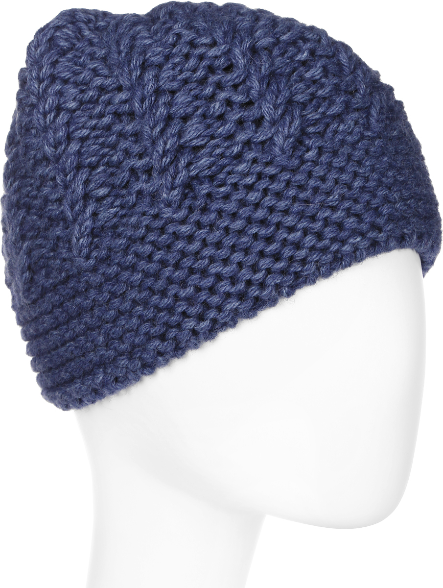 Шапка женская Marhatter, цвет: синий. Размер 56/58. MWH6524/2MWH6524/2Стильная шапка, выполнена из высококачественной пряжи. Модель очень актуальна для тех, кто ценит комфорт, стиль и красоту. Отличный вариант на каждый день.