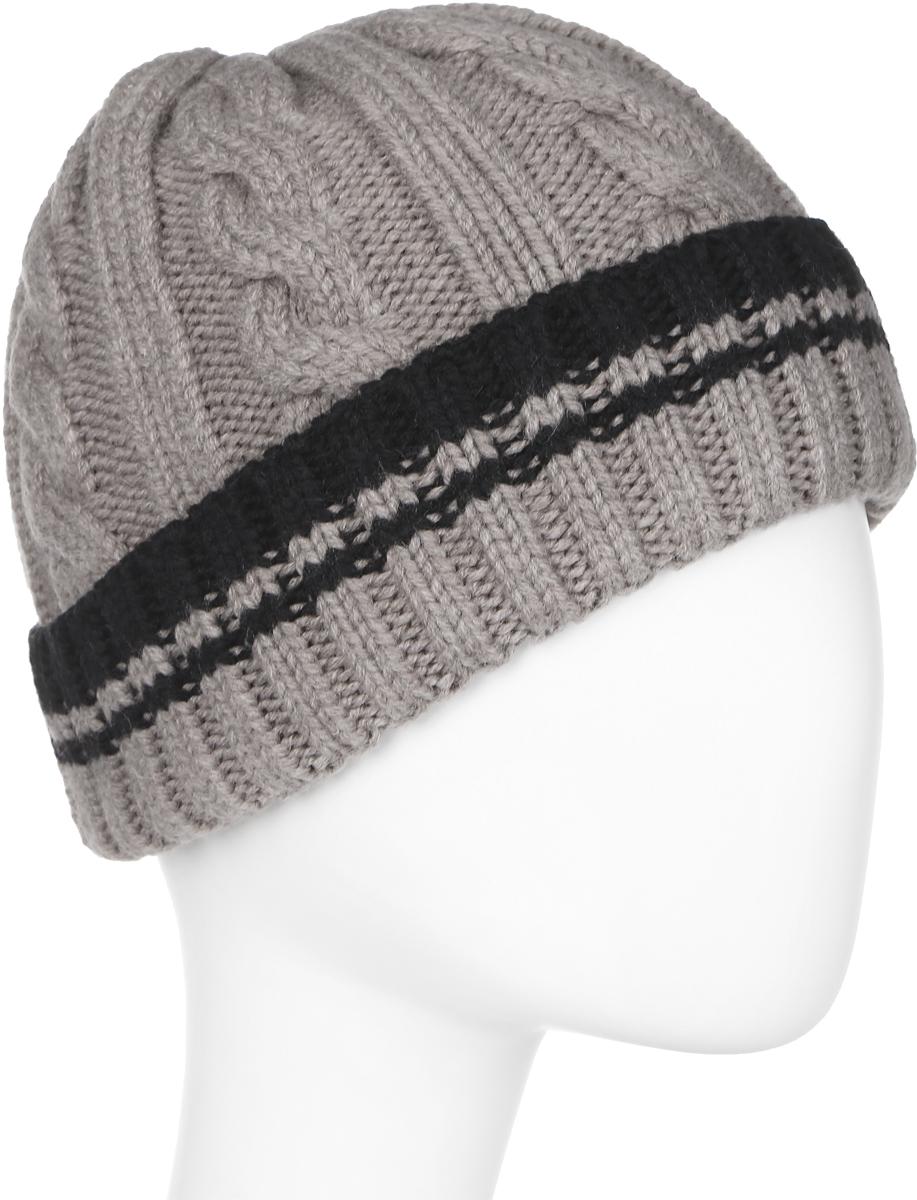 Шапка мужская Marhatter, цвет: светло-бежевый. Размер 57/59. MMH6954/2MMH6954/2Универсальная шапка, отлично подходит под любой стиль одежды. Сдержанный строгий дизайн, деликатная отделка и классические цвета.