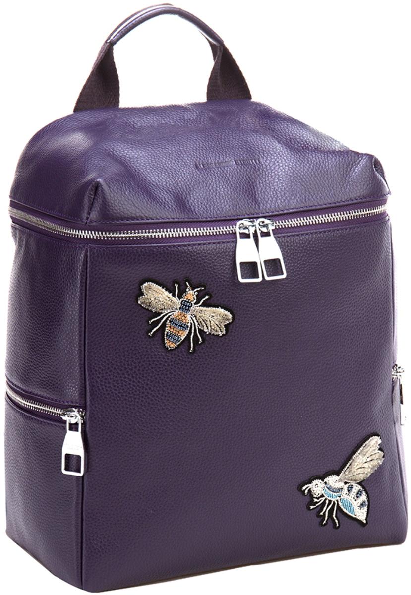 Сумка-рюкзак женская Alessandro Birutti, цвет: фиолетовый. 13-284 alessandro birutti сумка 4007 abir4007 капучино кор симф