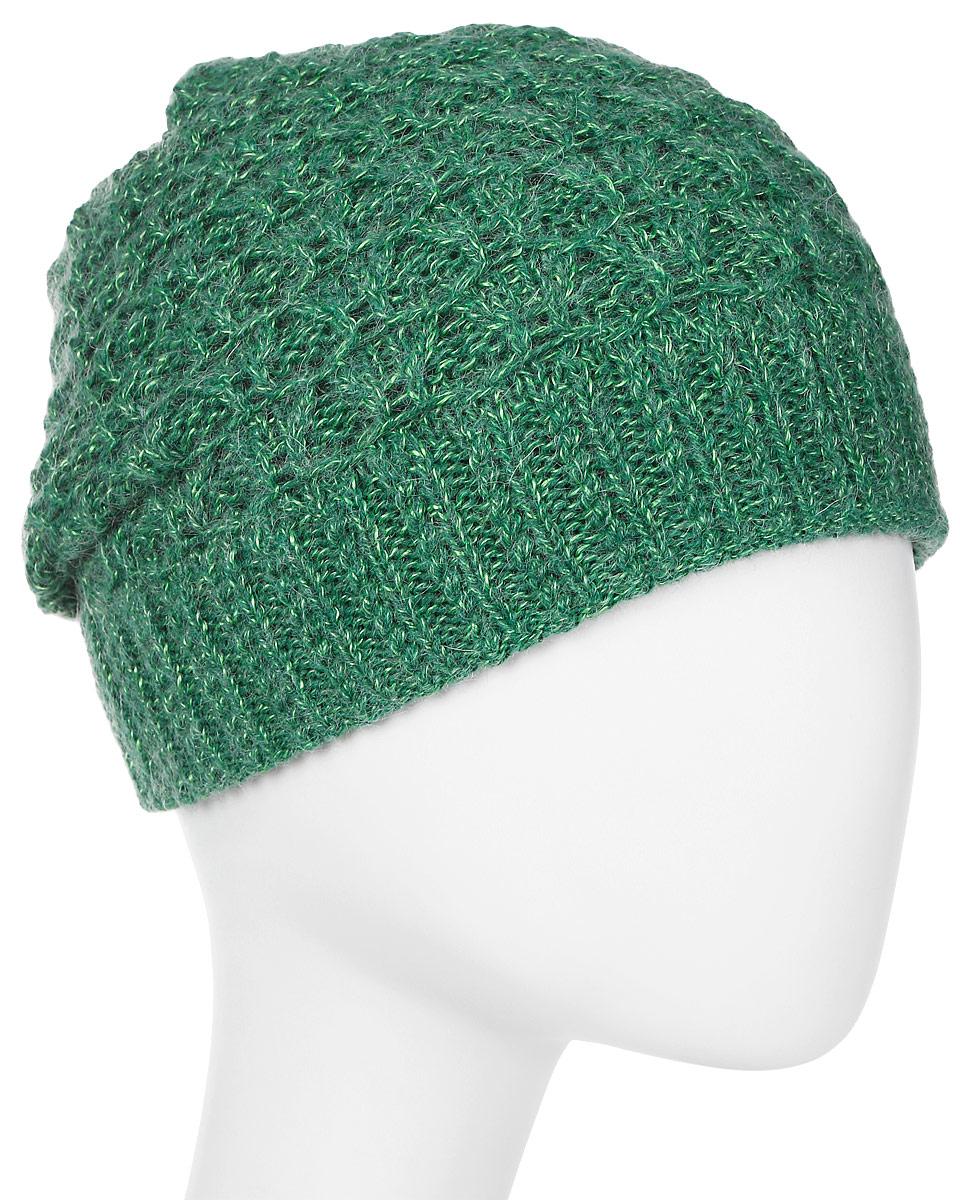Шапка женская Marhatter, цвет: зеленый. MWH6767/3. Размер 56/58MWH6767/3Стильная шапка, выполнена из высококачественной пряжи. Модель очень актуальна для тех, кто ценит комфорт, стиль и красоту. Отличный вариант на каждый день.