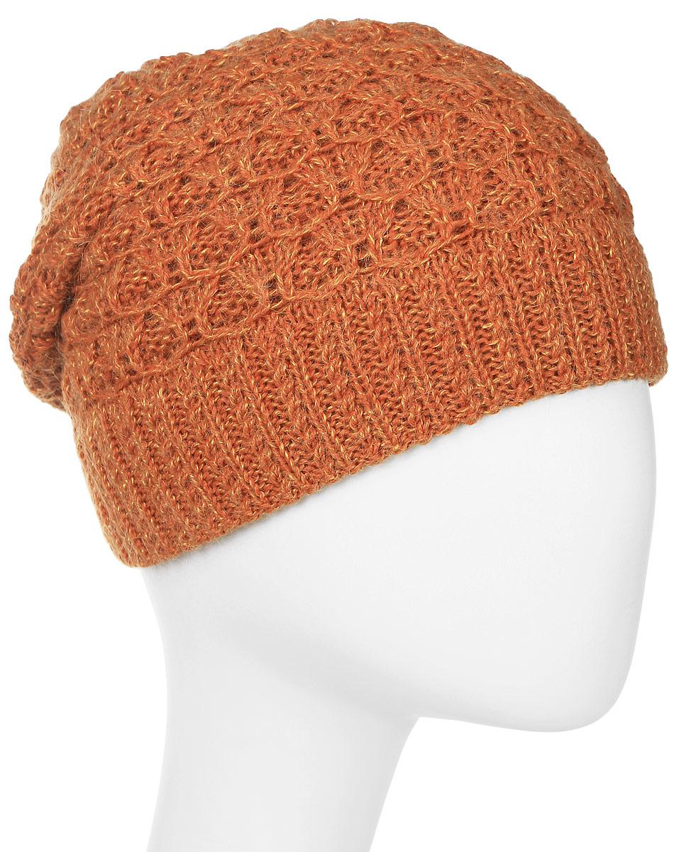 Шапка женская Marhatter, цвет: оранжевый. MWH6767/3. Размер 56/58MWH6767/3Стильная шапка, выполнена из высококачественной пряжи. Модель очень актуальна для тех, кто ценит комфорт, стиль и красоту. Отличный вариант на каждый день.