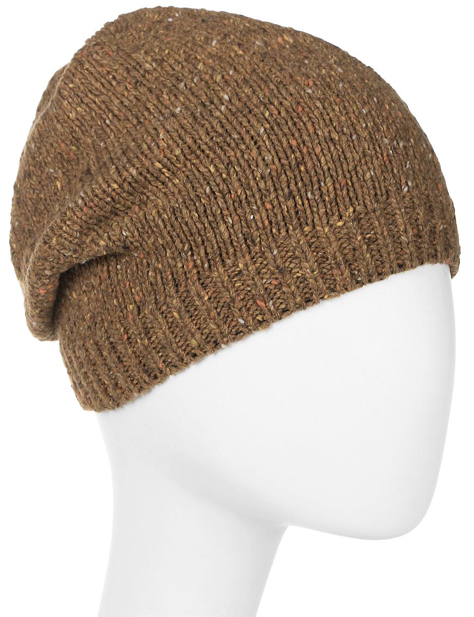 Шапка женская Marhatter, цвет: коричневый. MWH7182/2. Размер 56/58MWH7182/2Стильная шапка-колпак, выполнена из высококачественной пряжи. Модель очень актуальна для тех, кто ценит комфорт, стиль и красоту. Отличный вариант на каждый день.
