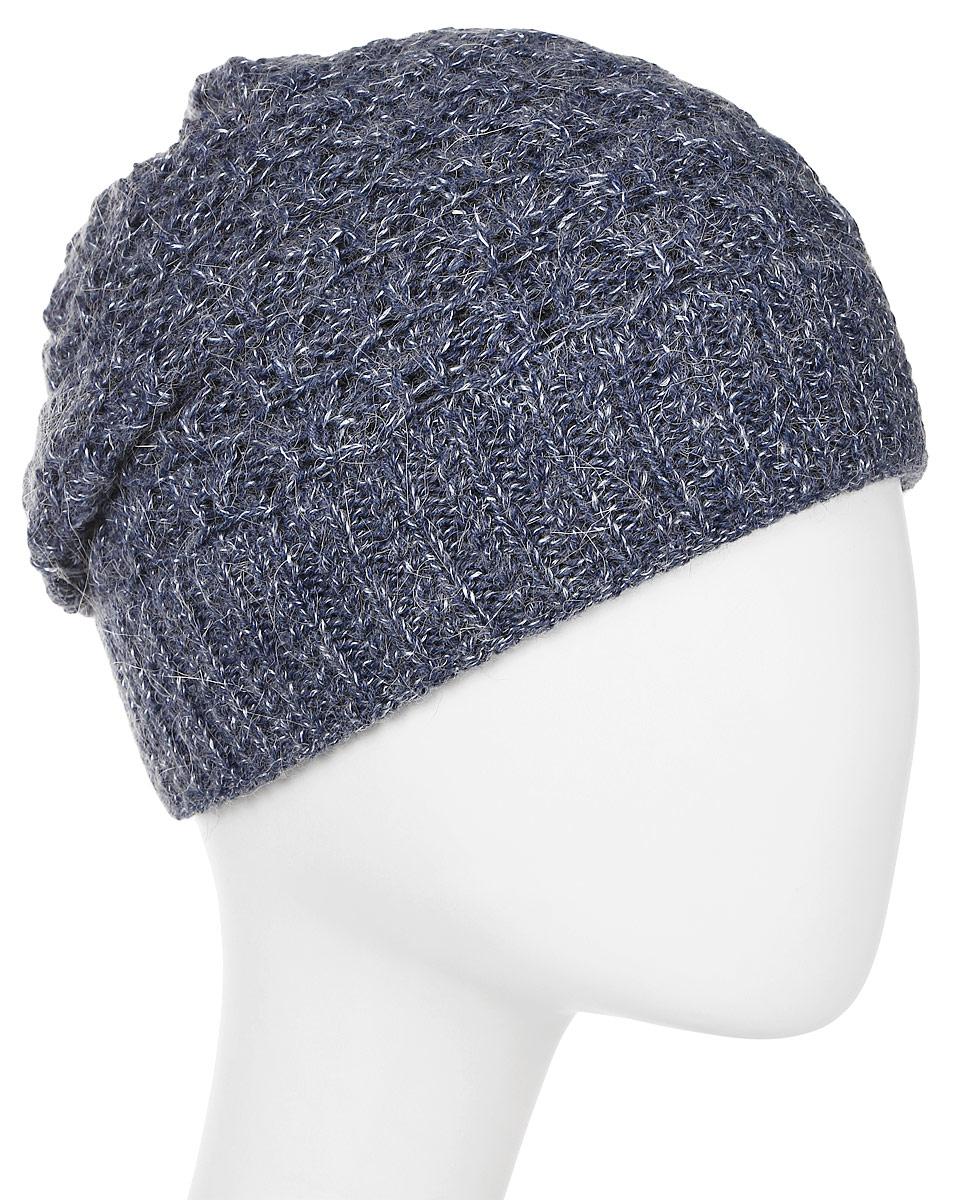 Шапка женская Marhatter, цвет: темно-синий, белый. MWH6767/3. Размер 56/58MWH6767/3Стильная шапка, выполнена из высококачественной пряжи. Модель очень актуальна для тех, кто ценит комфорт, стиль и красоту. Отличный вариант на каждый день.