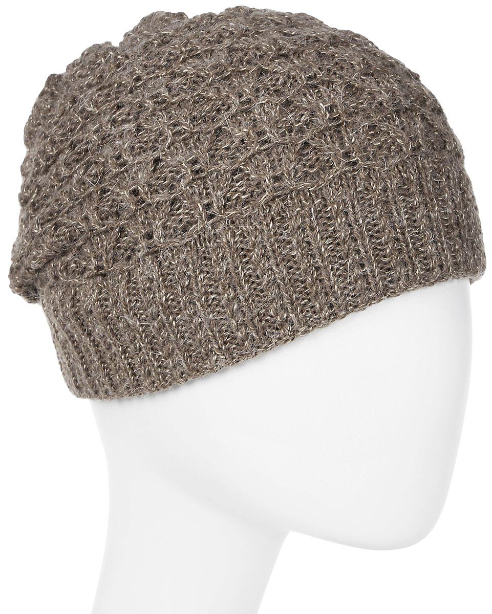 Шапка женская Marhatter, цвет: коричневый. MWH6767/3. Размер 56/58MWH6767/3Стильная шапка, выполнена из высококачественной пряжи. Модель очень актуальна для тех, кто ценит комфорт, стиль и красоту. Отличный вариант на каждый день.